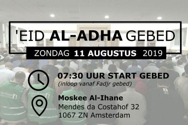 'Eid Al-Adha gebed zondag 11 augustus 2019 in de moskee.