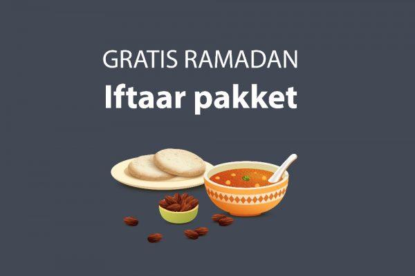 Gratis iftarmaaltijd voor behoeftigen en armen