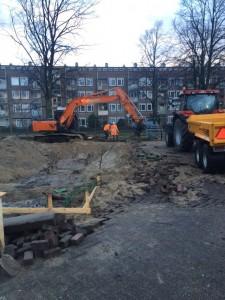 Uitgraven bouwput